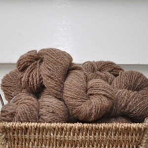 handspun 502 mid brown yarn